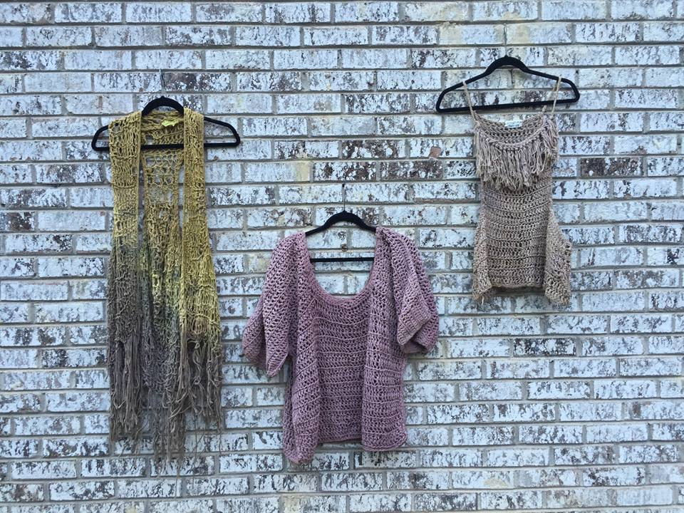 natural dyed cotton yarn sweater vest tank