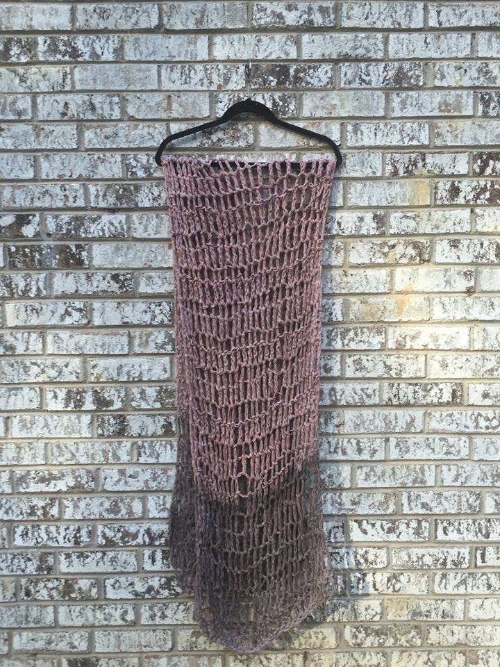 natural dyed scarf with black walnuts and madder root