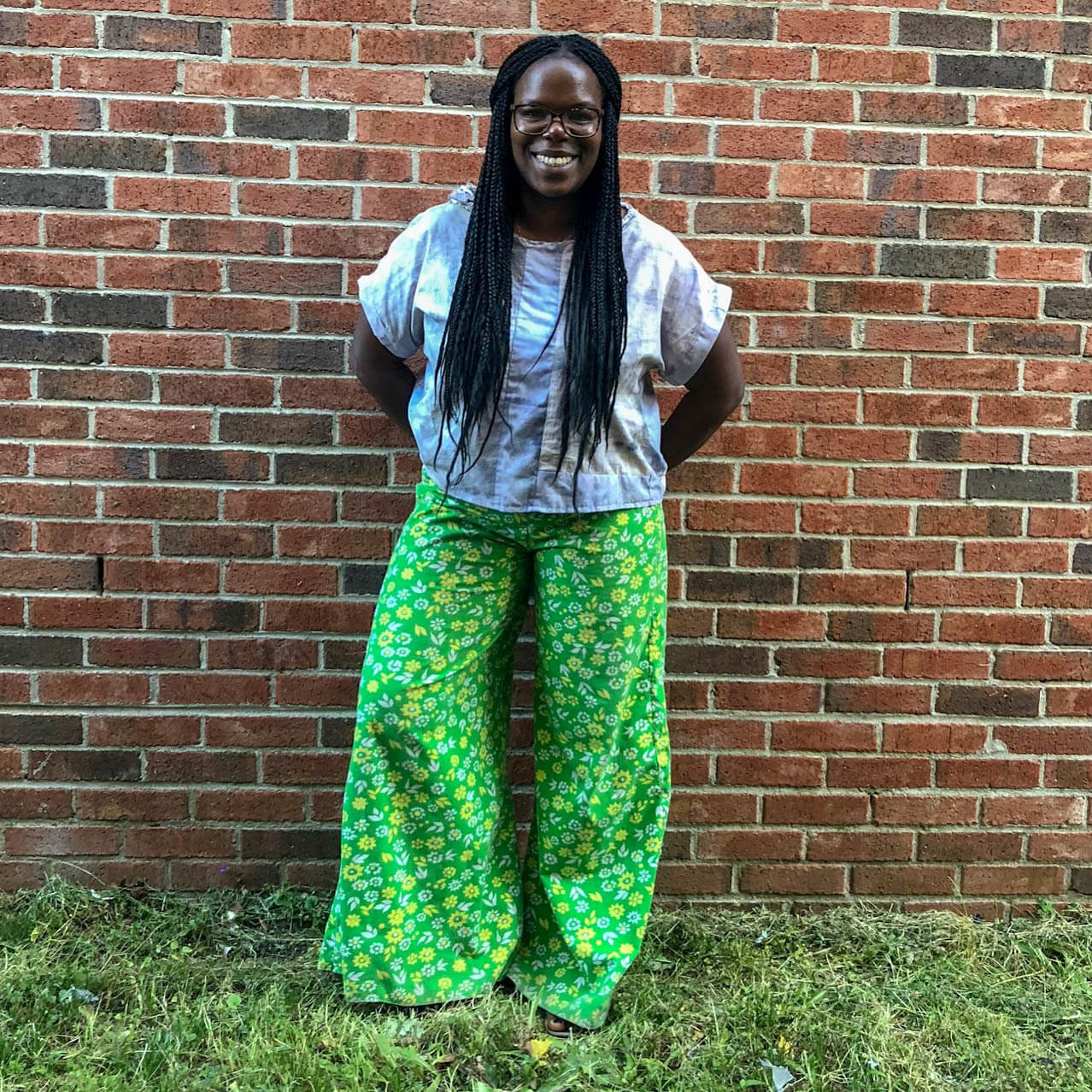 Me Made May – Wide Leg Pants and Naturally Dyed Top
